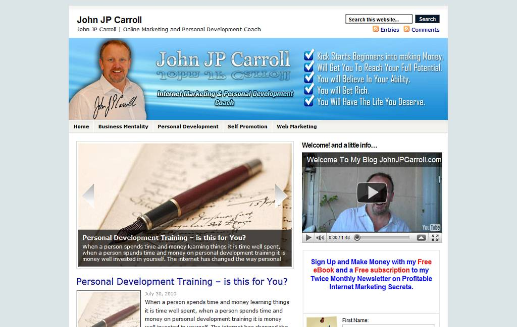 New Xtreme Blog – John JP Carroll's Personal Development Blog