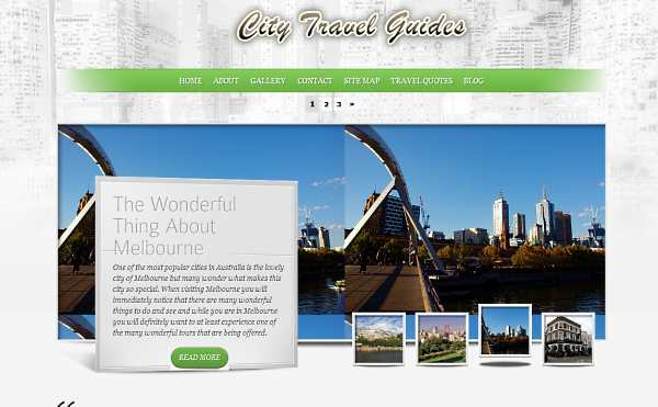 City Travel Guides niche blog launched