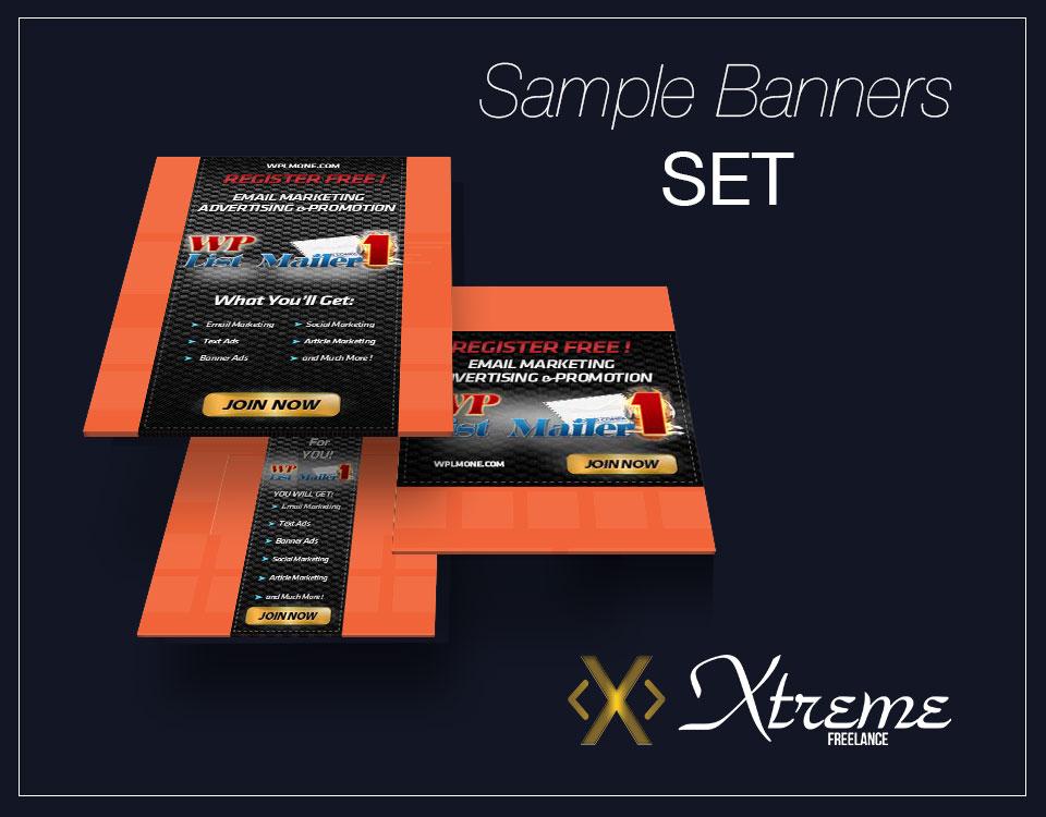 Promo banners - full set