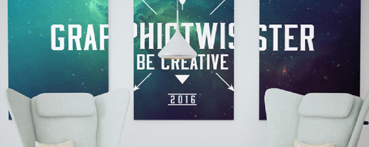 Modern Triple Poster Frame