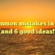 5 common mistakes in SEO (and 6 good ideas!)