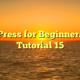 WordPress for Beginners 2015 Tutorial 15