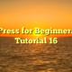 WordPress for Beginners 2015 Tutorial 16