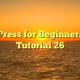 WordPress for Beginners 2015 Tutorial 26