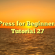 WordPress for Beginners 2015 Tutorial 27