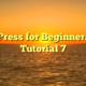 WordPress for Beginners 2015 Tutorial 7
