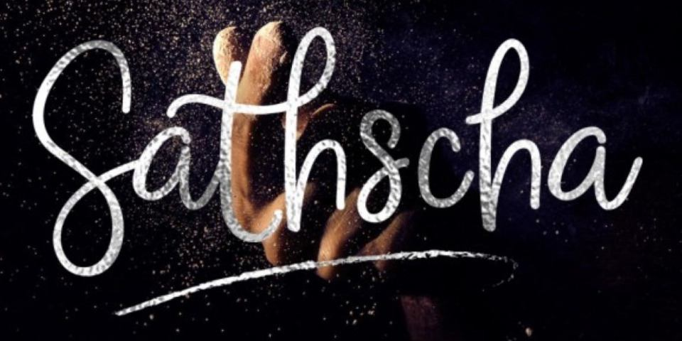 Sathscha Script Font