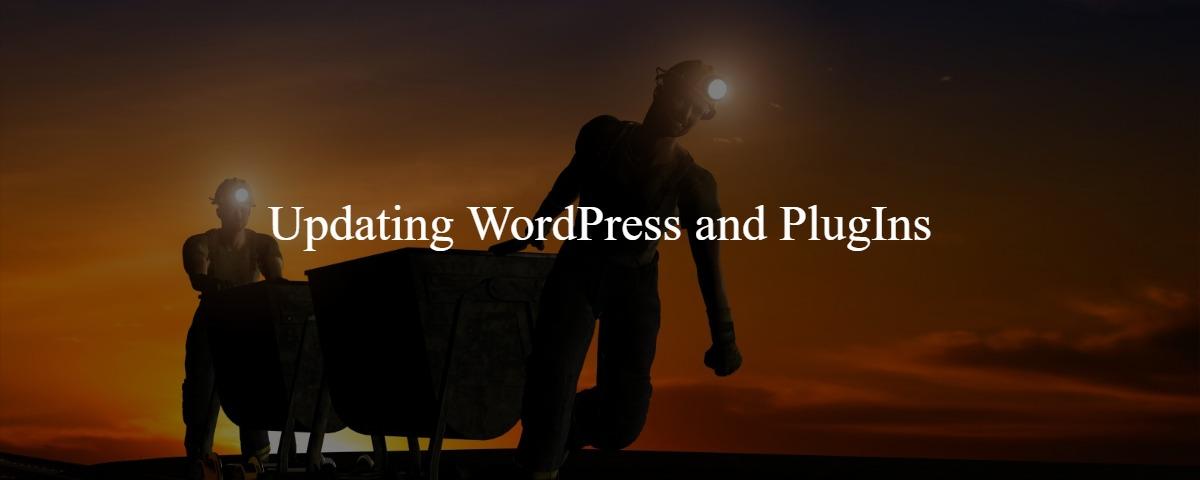 Updating WordPress and PlugIns