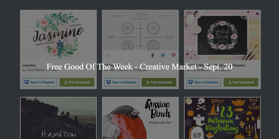 Free Good Of The Week - Creative Market - Sept. 20