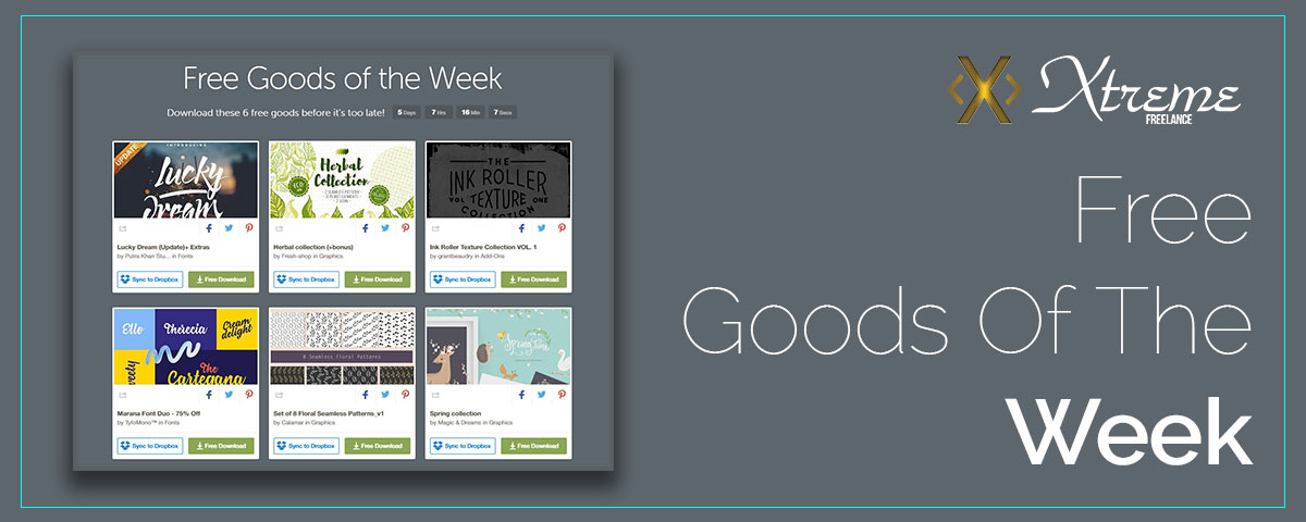 Free Goods Of The Week - fonts and many spring themed goodies for you this week. Have fun!
