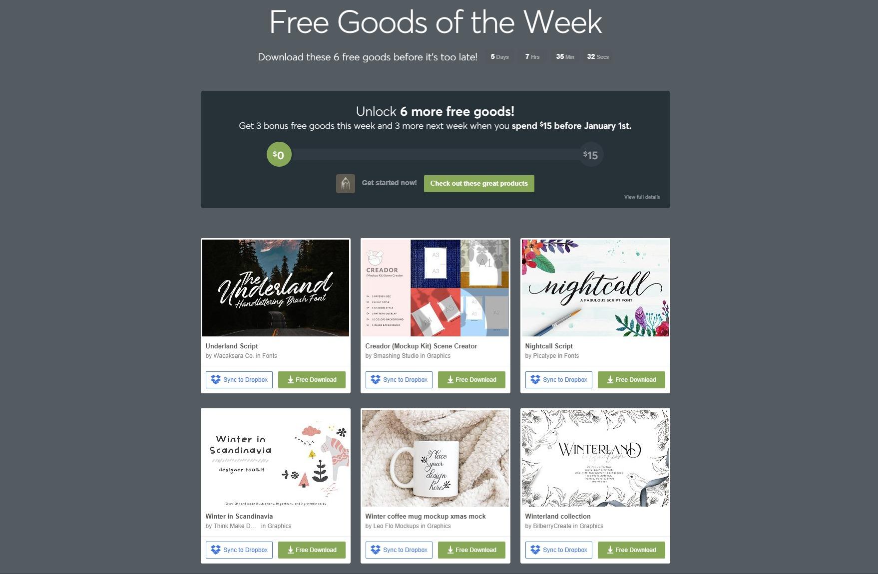 Free Goods Of The Week – Dec.17