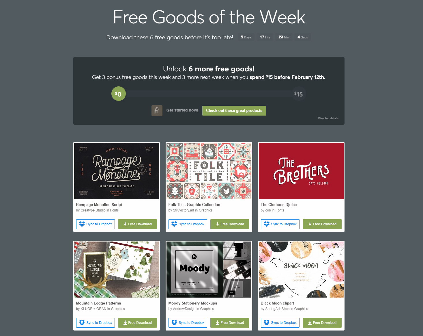 Free Goods Of The Week
