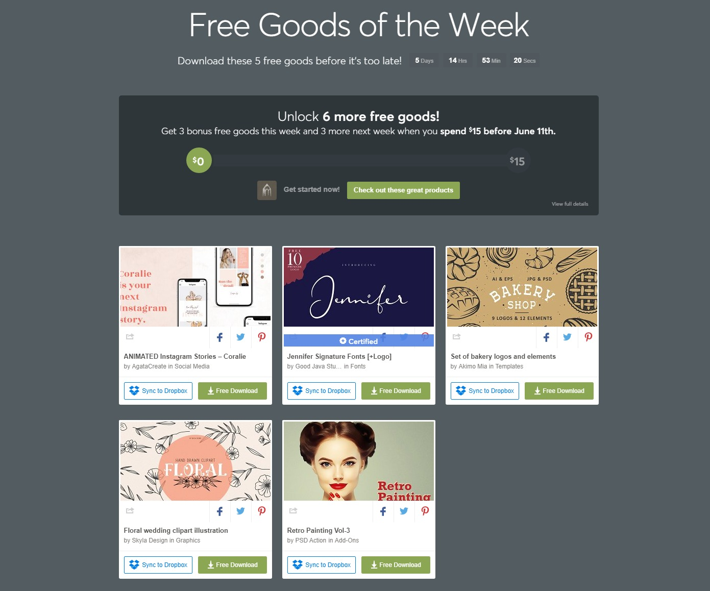Free Goods Of The Week – May 27